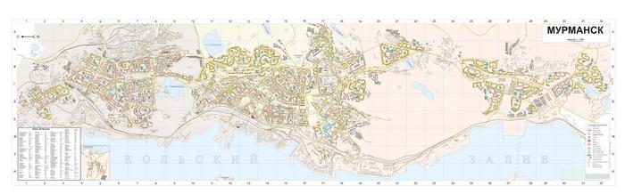 Карта города мурманск хибины